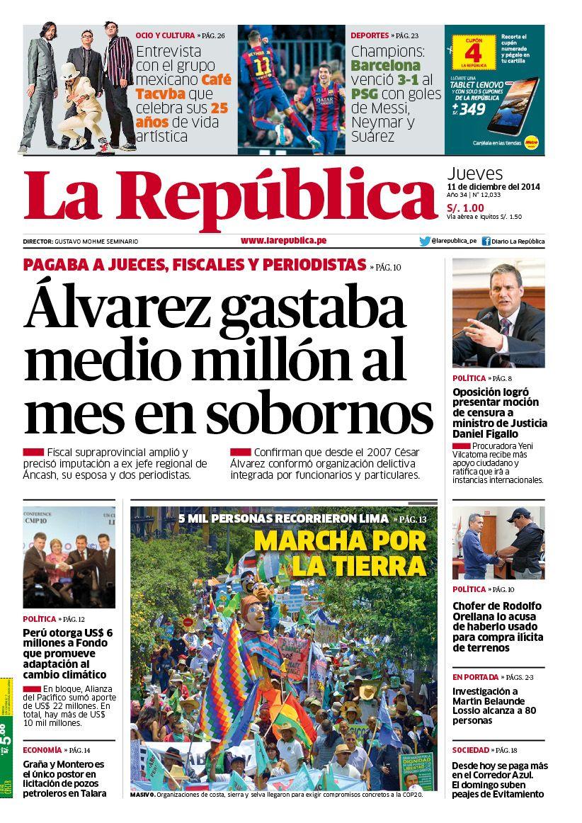 La República 11-12-2014