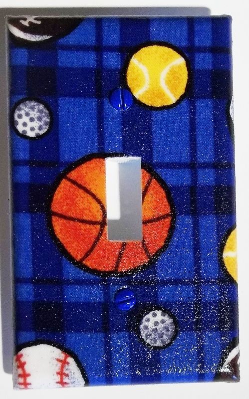 Clearance Football Baseball Bedroom Bathroom Decor Single Light Switch Cover Leviton