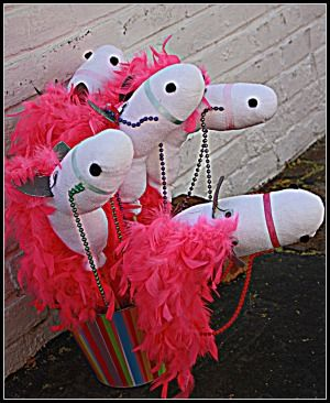 Tangled party....cute horses made with socks and feather boa's for all the kiddlewinks!