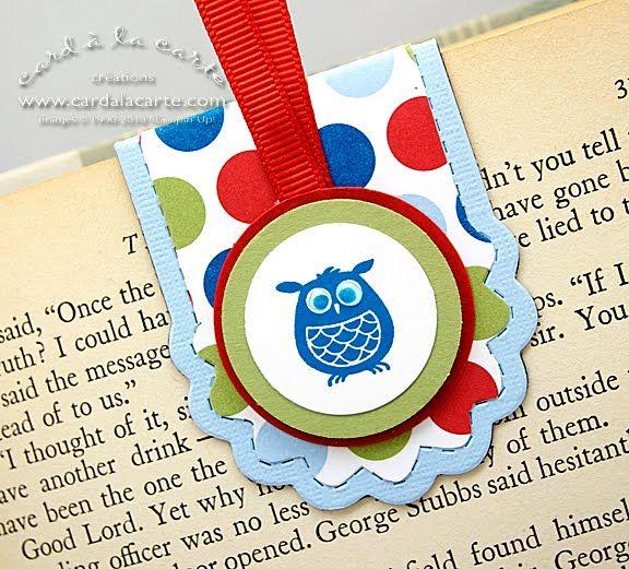 Card à la Carte: Quickie Mini Monday -- Magnetic Owl Bookmark