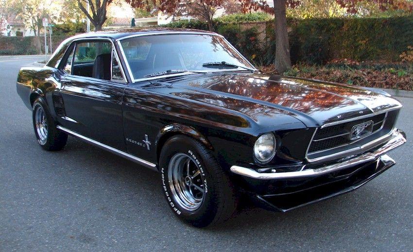 Raven Black 1967 Mustang Hardtop 1967 Mustang Mustang Black