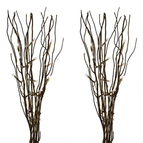 Willow Branch with LED Lights, Set of 2 Christmas Tree Shops