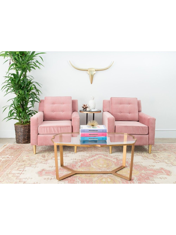 Lulu & Georgia Aviva Velvet Chair | PINK Color PaletteSalmon+Coral+ ...