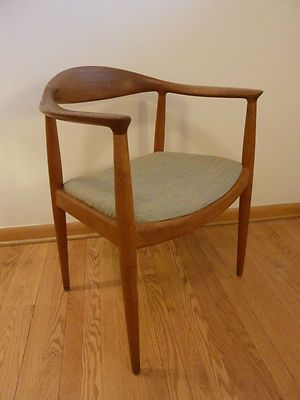 Hans Wegner The Chair Mid Century Danish Modern Knoll Johannes