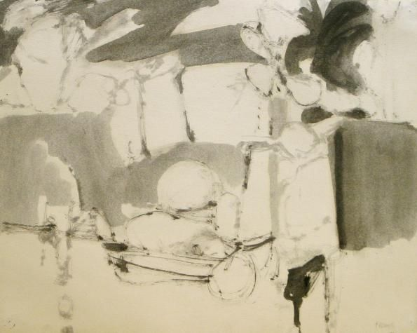 Stephen Greene – Untitled, 1960, India ink on paper | Kemper Art Museum