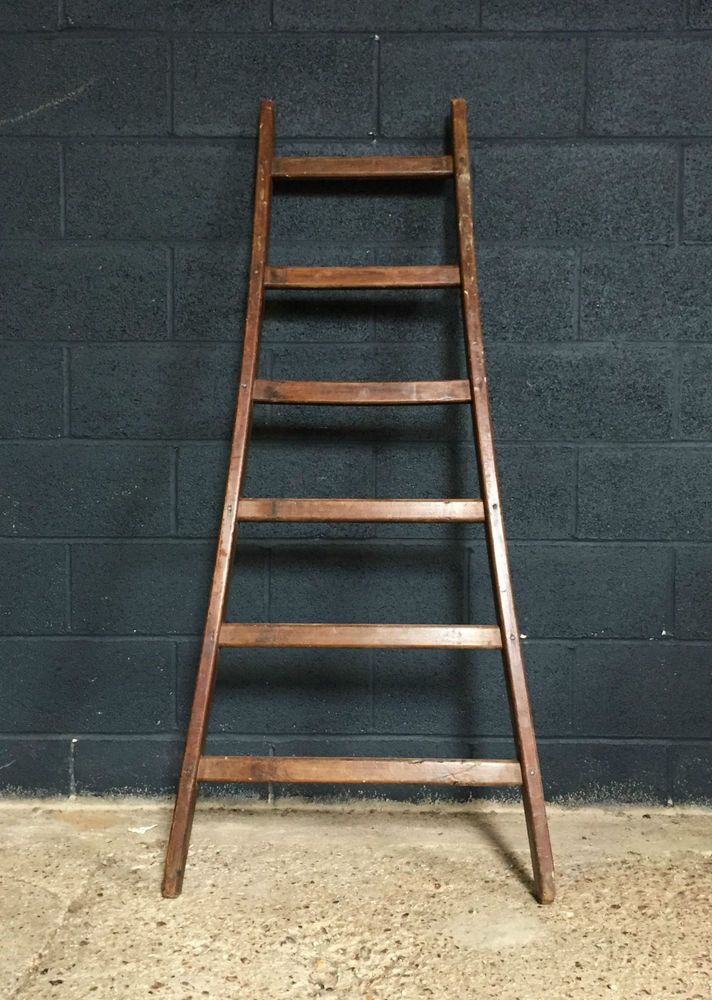 Vintage Antique Fruit Picking Orchard Ladder Architectural Antiques Antiques Ladder Decor