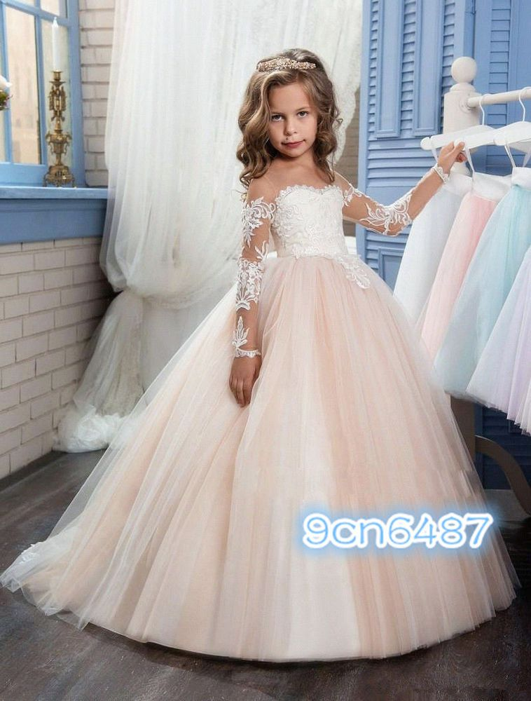 Flower Girl Dress Kid Party Pageant Princess Wedding
