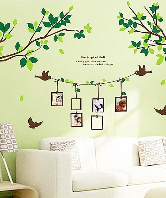 Wall Art Stickers Green Tree | My New Home | Pinterest | Walls ...