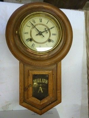 ANTIQUE REGULATOR WALL CLOCK 419395549 Regulator Clocks