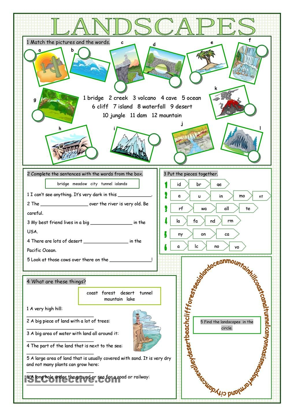 Worksheet Activities To Improve Vocabulary appearance vocabulary exercises pinterest landscapes free esl worksheets