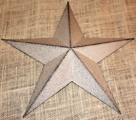 16 Large Metal Tin Barn Star Decor Tins And