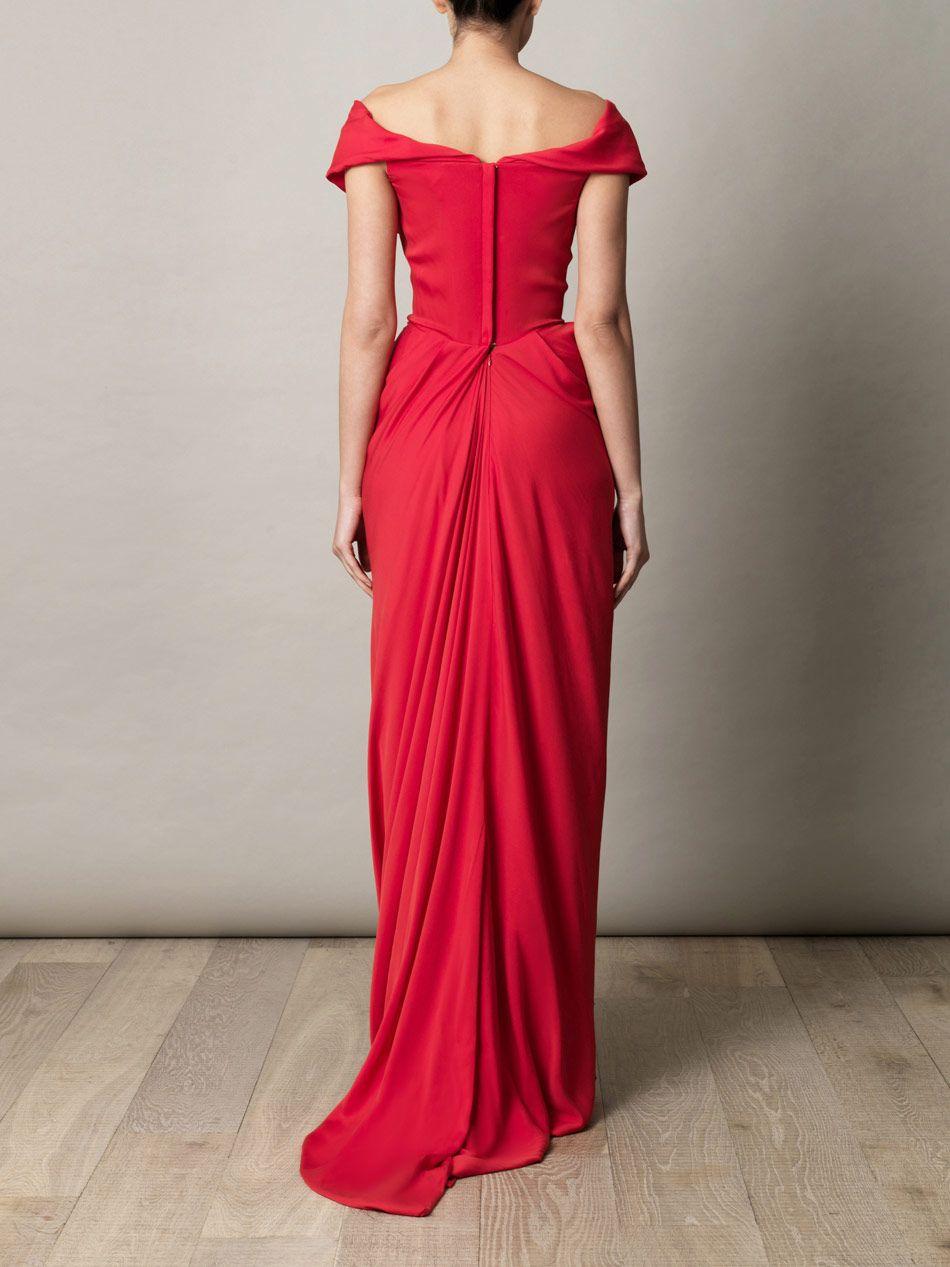 3f51d5e644e58 Vivienne Westwood Gold Label Cocotte Georgette Drape Dress in Red   Lyst