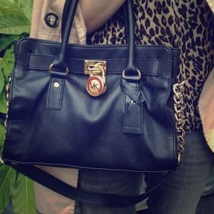 Michael Kors Handbags - Michael Kors Black Hamilton Satchel. Shop under username: chelseapearl