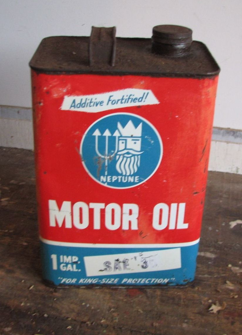 Vintage Neptune Motor Oil Can Gas And Oil Pinterest