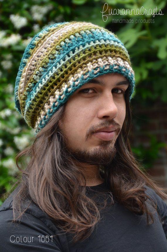 Bohemian Slouchy Beanie Hat Boho Hippie Textured Crochet   Gorros y ...