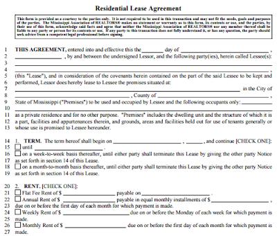 Basic Rental Agreement Fillable Basic Rental Agreement Word