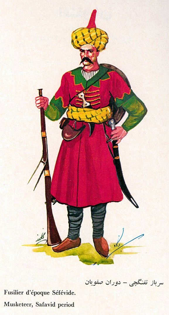 Military Empire Art Of Turks Persian Musketeer Iran Warrior Safavid Persian