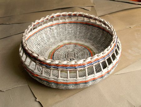 make rolled paper wicker baskets i have just discovered how easy