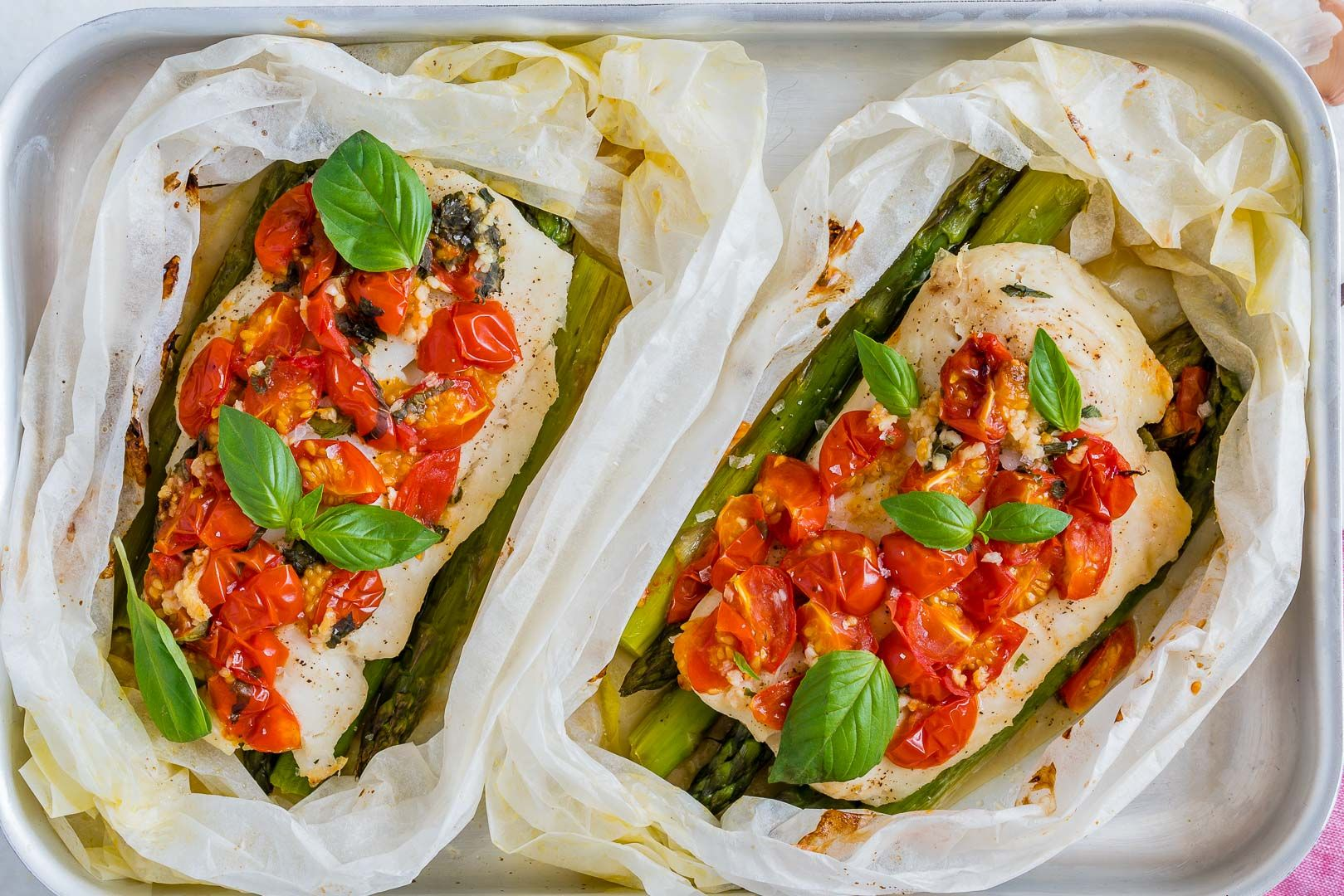tomato basil oven roasted halibut packets  recipe  clean eating dinner roasted halibut clean
