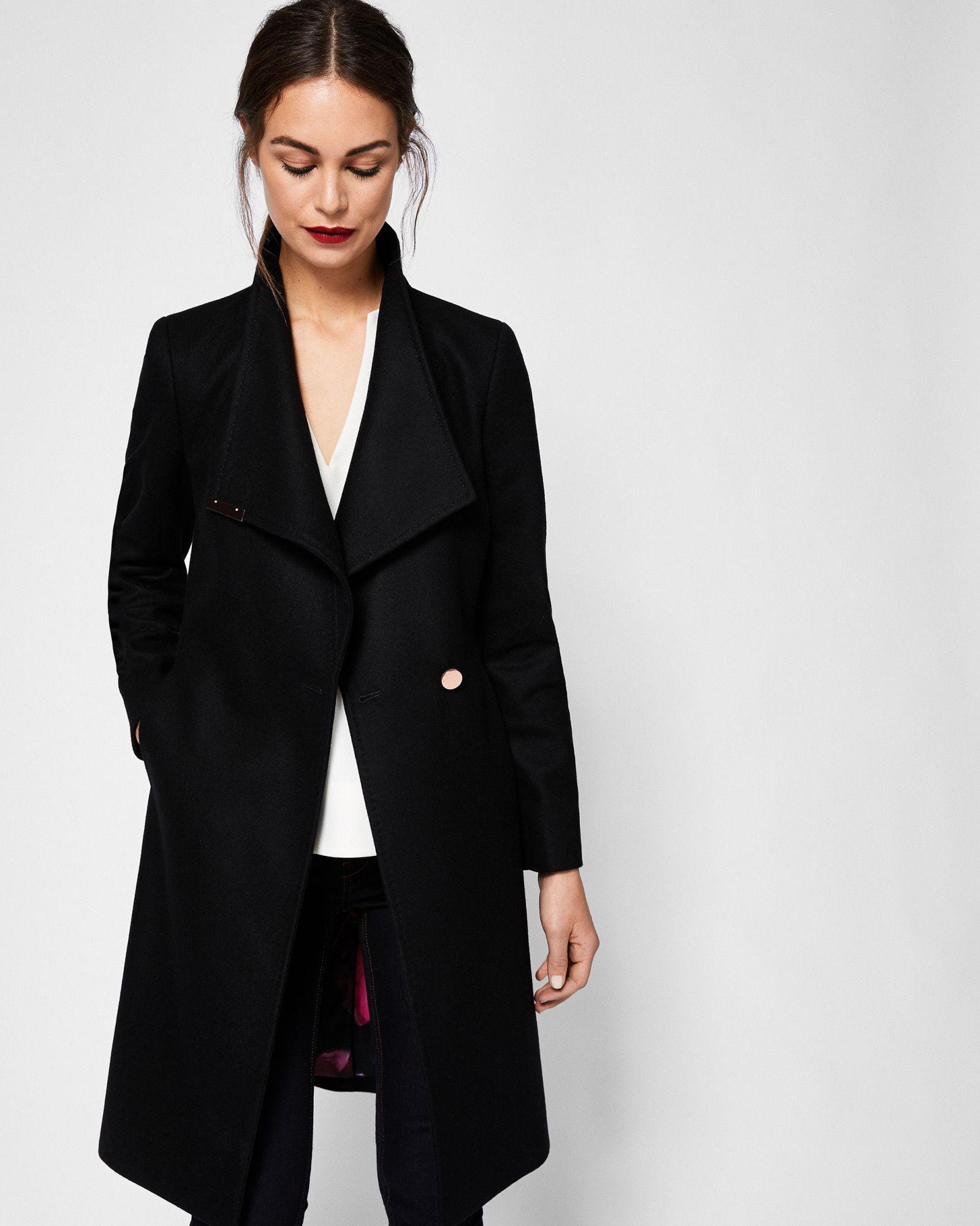 0eb5b0ee6 KIKIIE Cashmere-blend wrap front coat  TedToToe