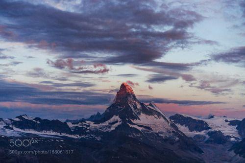 The Matterhorn by JedForster  sky sunrise travel nomad wanderlust Matterhorn Zematt JedForster