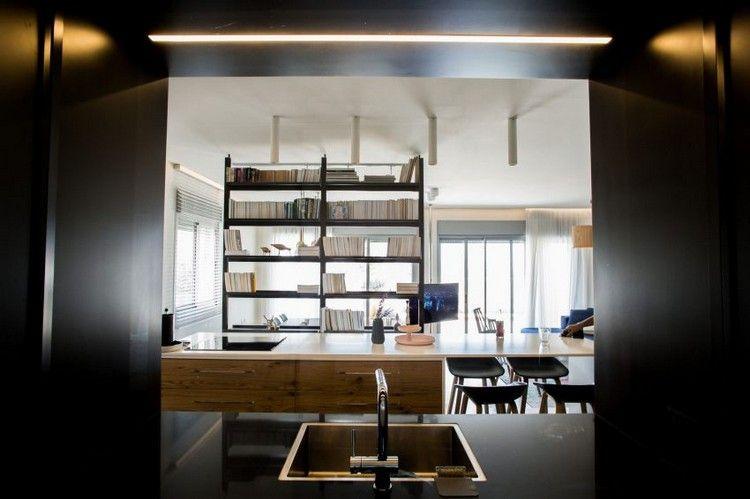 Moderne offene Küche im Wohnzimmer \u2013 Ein Penthouse in Israel Pinterest