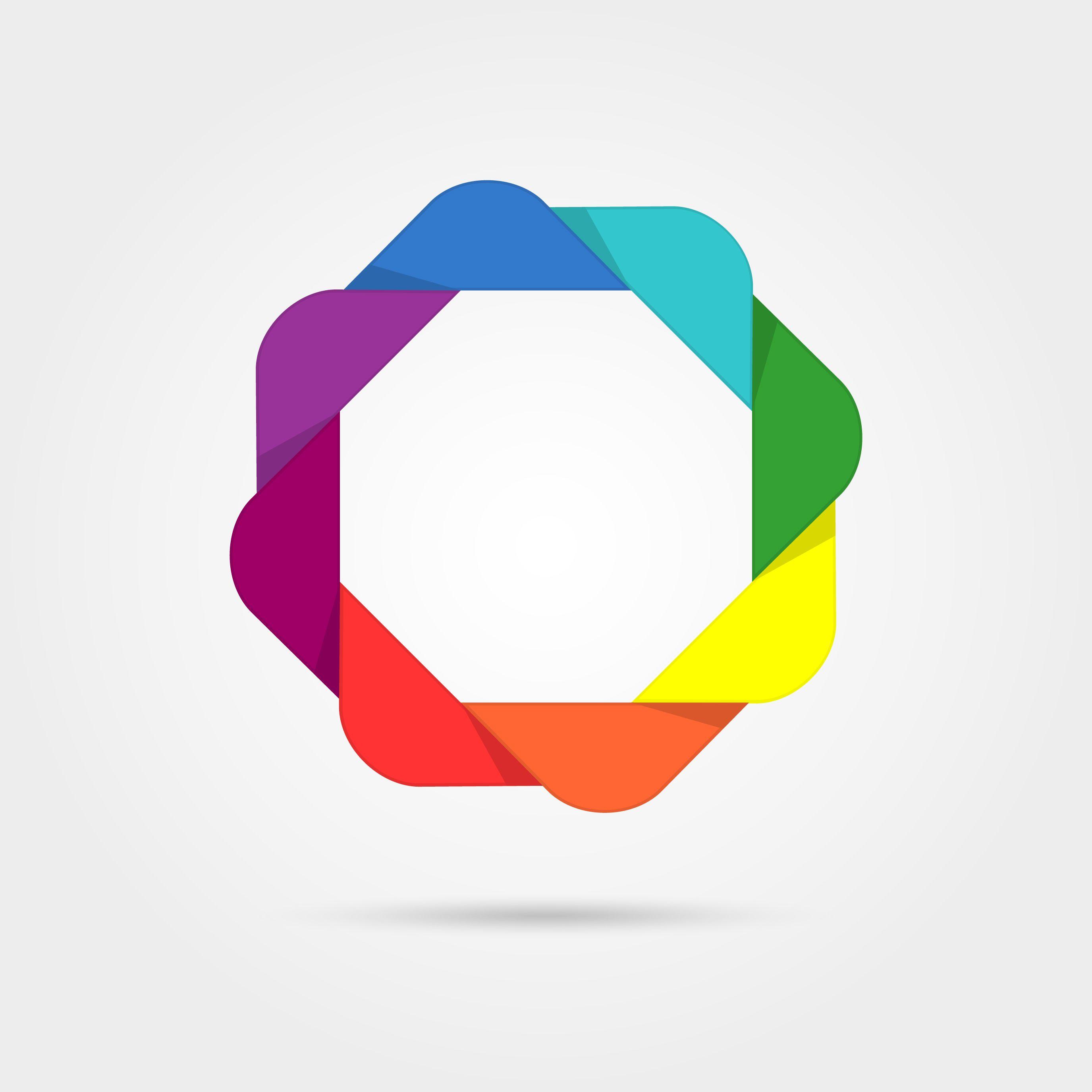 Corporate, media, technology, style templates vector logo design ...