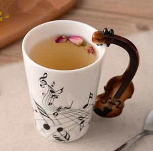 Novelty Guitar Ceramic Cup #ceramiccafe