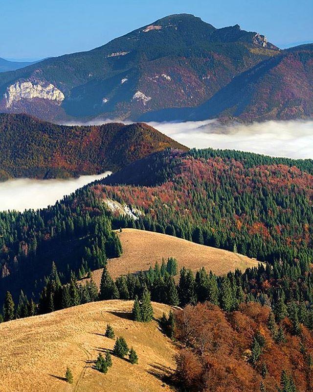 Neprehliadnuteľný Choč z hrebeňa Šiprúňa ( 1461 m.n.m ) V popredí Vtáčnik  Awesome photo by Karol Časal #ThisIsSlovakia  Follow us on Facebook, link in BIO