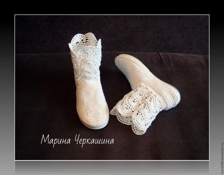 ботиночки для девочки крючком схема