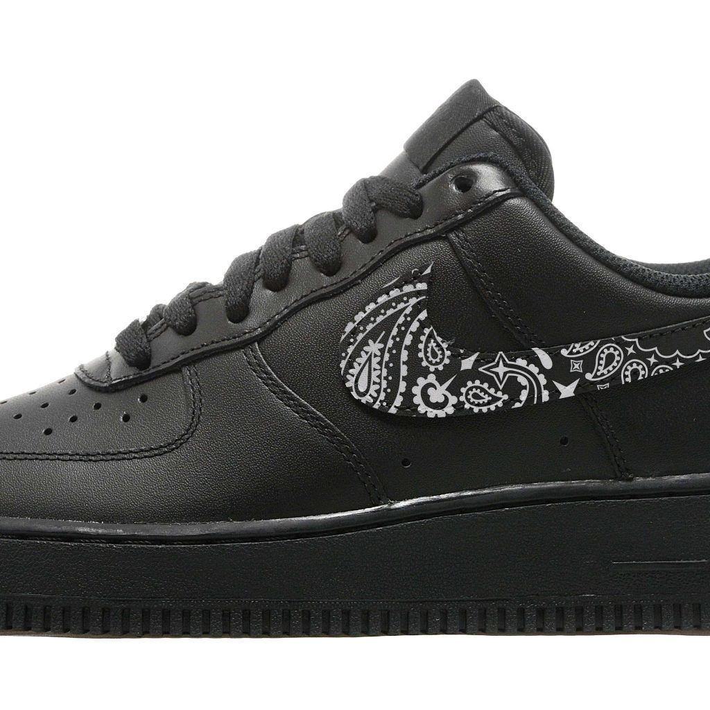 Black Bandana Nike Air Force 1 Shoes Black Bandana Fever