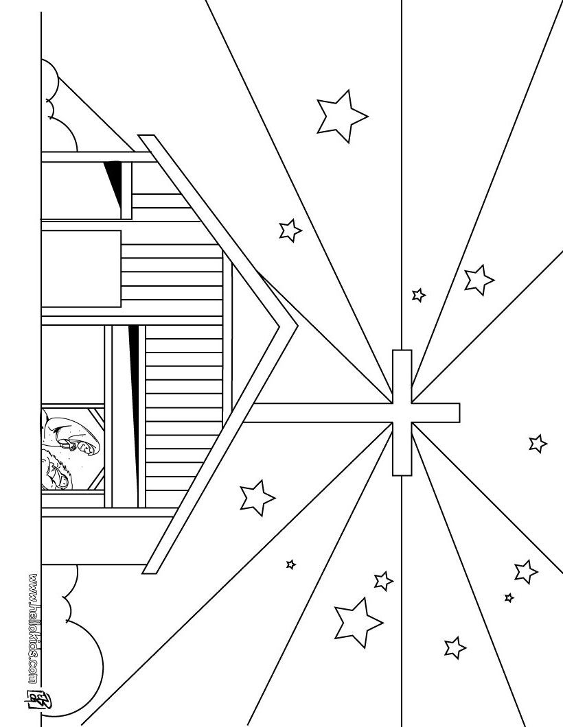 Bethlehem Christmas Star Coloring Page Star Coloring Pages