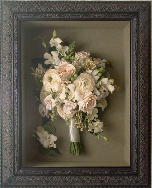 Wedding bouquet in a frame have your bouquet preserved and your post wedding to do list preserve your bouquet solutioingenieria