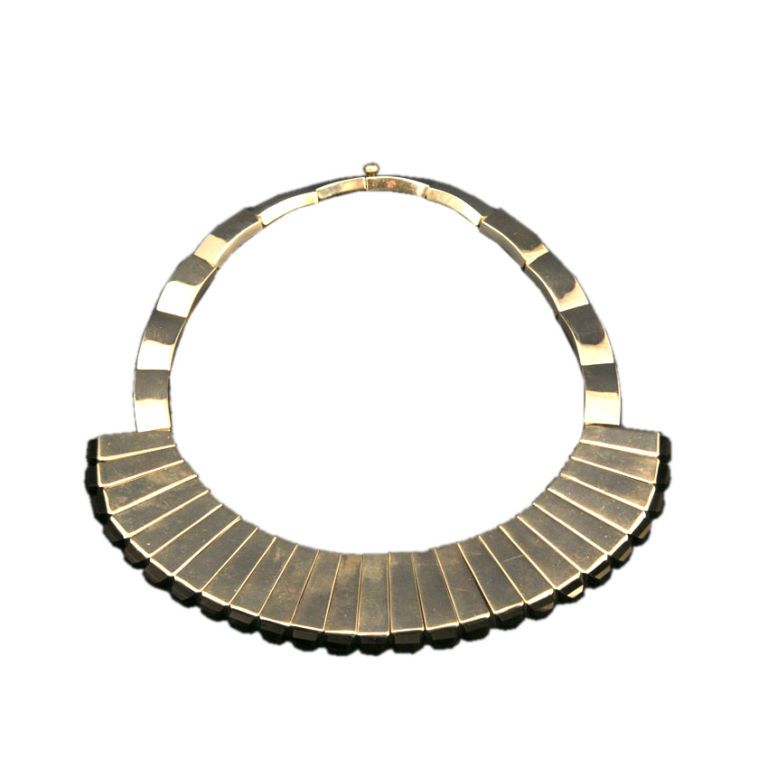 Necklace | Antonio Pineda.  Sterling silver with onyx.  c. 1960s, Mexico