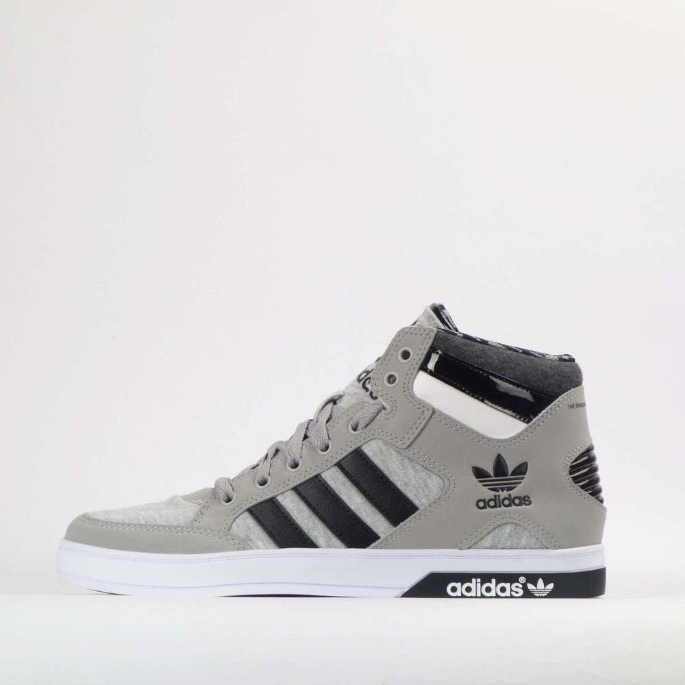 8a35069acb7b6a adidas Originals Hardcourt Hi Mens Trainers Shoes Grey Black   adidasOriginals  TrainersShoes