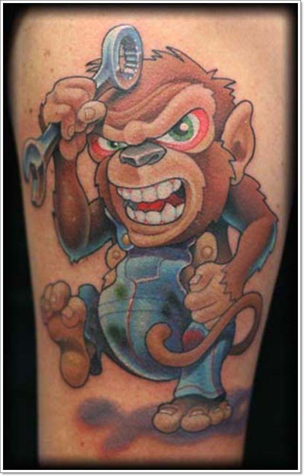 Crazy Monkeys Tattoos : crazy, monkeys, tattoos, Crazy, Gorilla, Tattoos, Ideas, Tattoo,, Tattoos,, Monkey