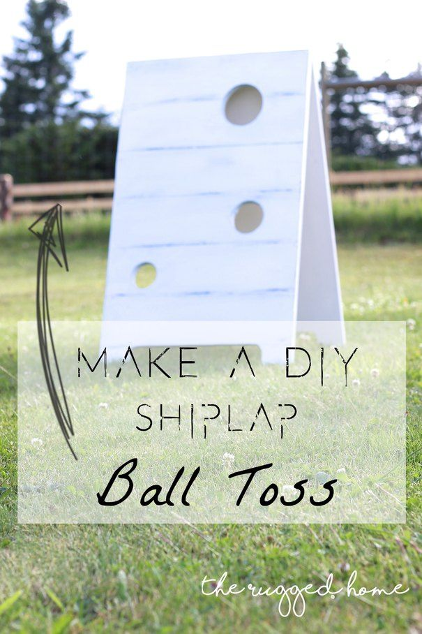 DIY Shiplap Ball Toss, Easy DIY Game, Outdoor Game, DIY Game, Home Depot DIY Workshops, Football Toss
