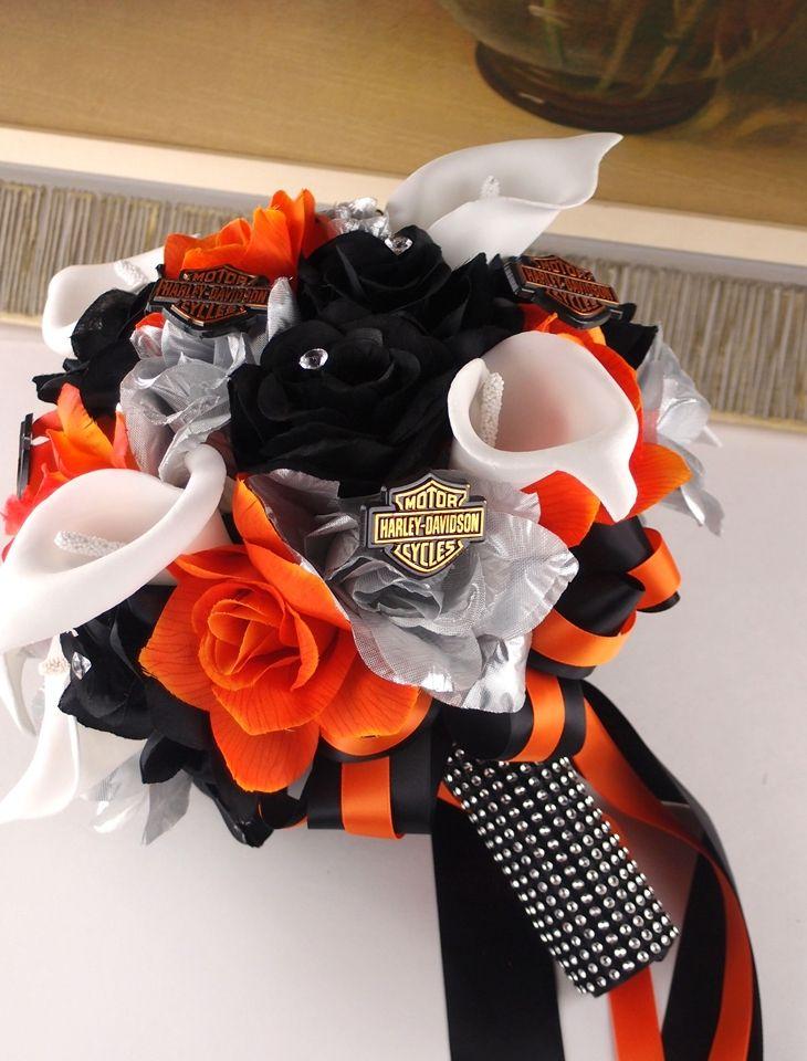 harley davidson wedding flowers