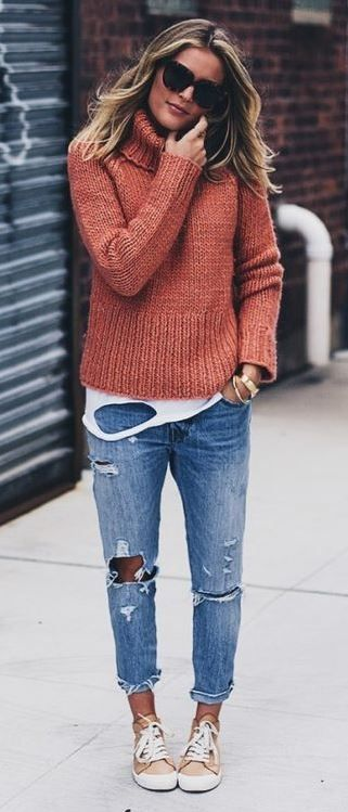 5c4436ba28 40 Outfit Ideas To Wear Your Boyfriend Jeans And Still Look Awesome ...