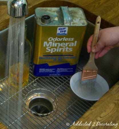 How To Clean Oil Based Paint Out Of A Brush Cleaning Paint Brushes Oil Brush Cleaning Wood