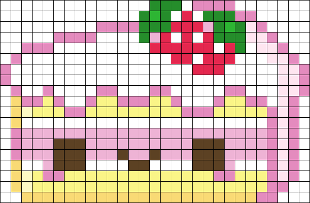 Kawaii Cake Perler Bead Pattern | Bead Sprites | Food Fuse Bead Patterns
