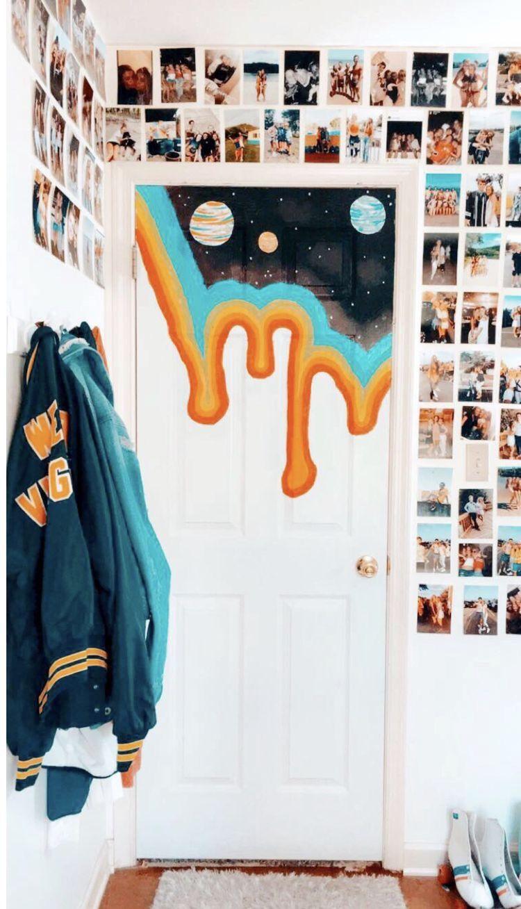 Closet Door Painting Ideas Bedroom Aesthetic
