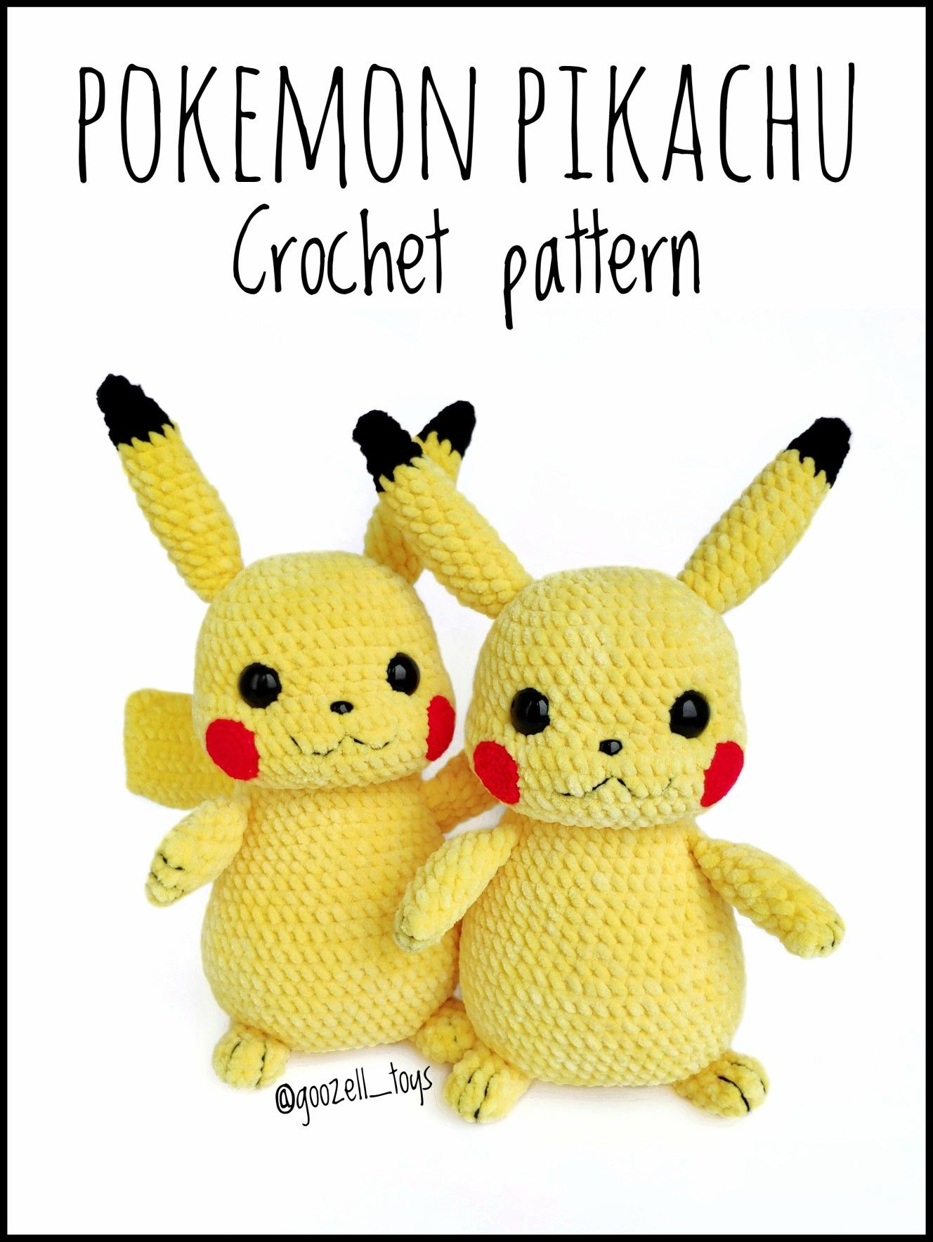 Pikachu amigurumi from 53stitches.tumblr.com. Aurora would loooove ... | 1768x1328