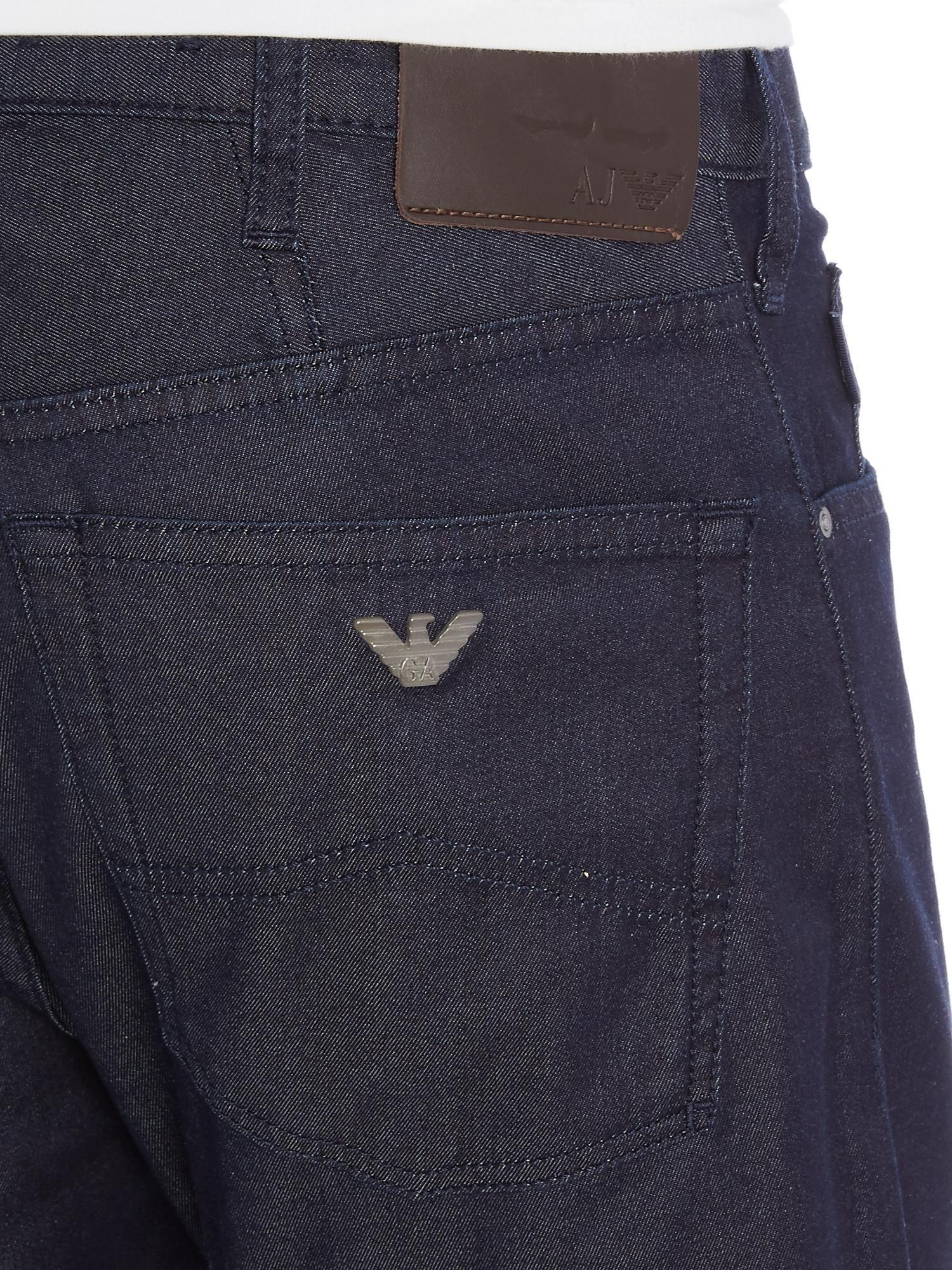 4bbb97d36860 Armani Jeans J21 Regular Fit Dark Indigo Jeans - House of Fraser ...