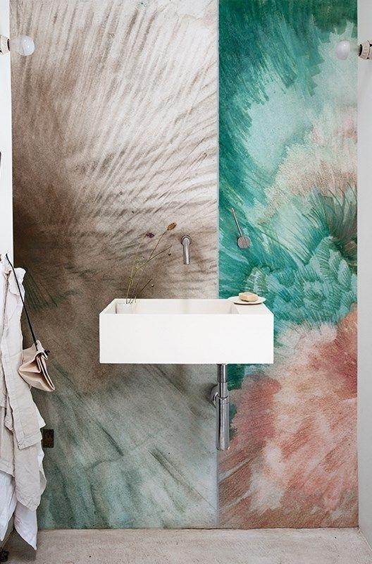 Contemporary wallpaper - Wall \ Decò Bad Pinterest Mehr - wandgestaltung im badezimmer