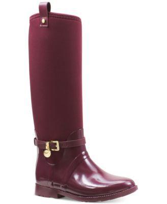 MICHAEL KORS Michael Michael Kors Charm Stretch Rain Boots. #michaelkors #shoes # boots