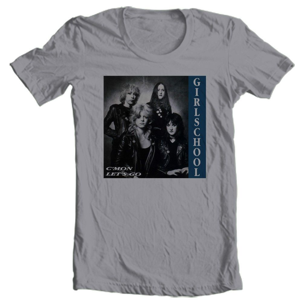 Girl school tshirt us metal concert retro tee ratt lita jetboy