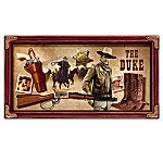 John Wayne: Western Essentials Wall Decor With Pistol, Boots, Rifle And Marshal Star