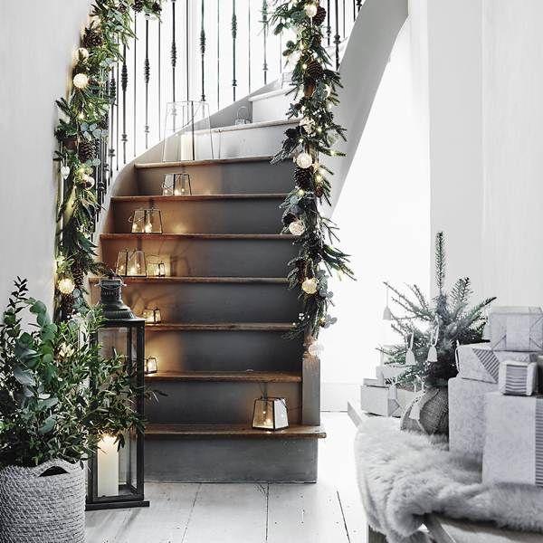 decoracin navidea para escaleras