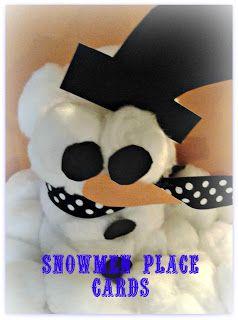 Snowmen Place Cards